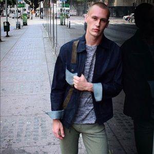 Custom suede Denim designer jacket